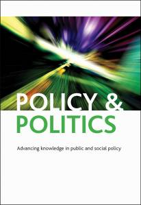 Policy and Politics cover