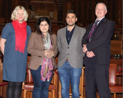 P&P team with Baroness Warsi